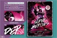 Superhero Night Flyer Template