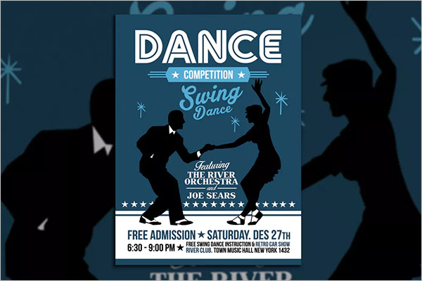 Swing Dance Competition Poster Flyer