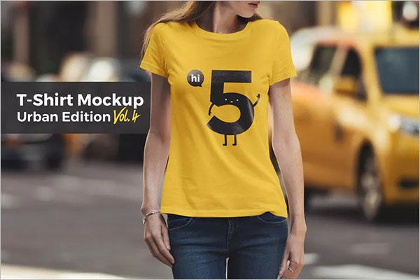 T-Shirt Mockup Urban Edition Vol. 4
