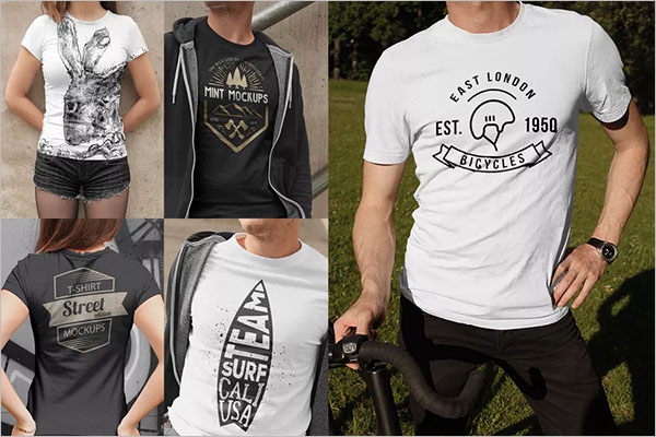 T-Shirt Mockups Street Edition