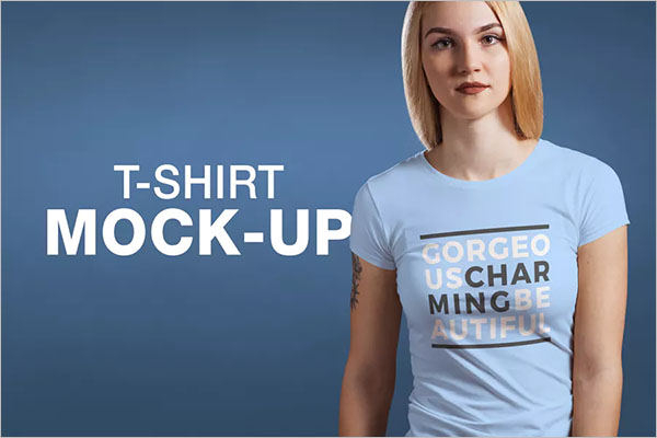 T-shirt Mock-up Female Version