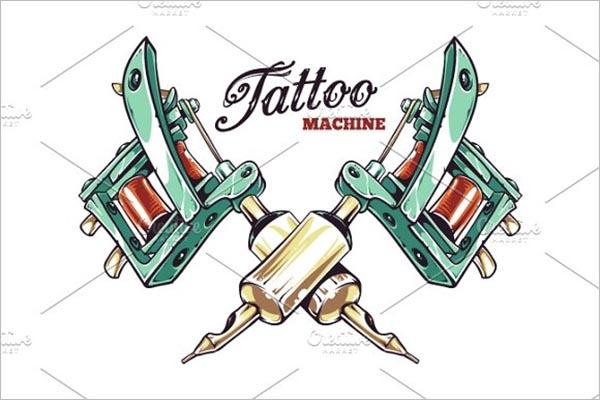 Tattoo Machine Icon Design