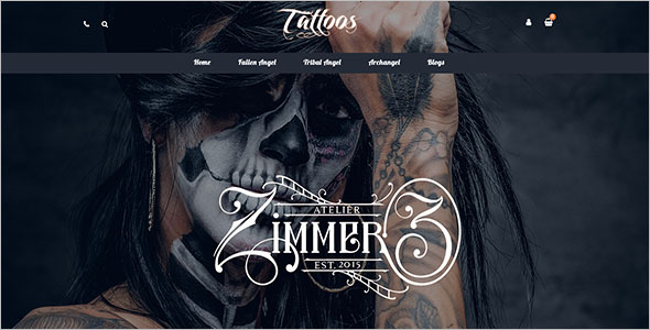 Tattoos OpenCart Template