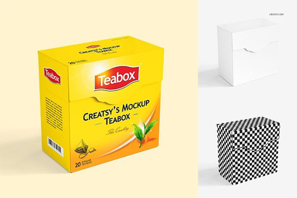Tea Box Mockup Set