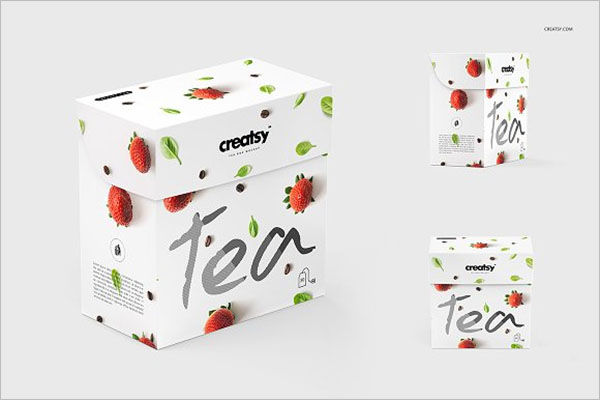Tea Box Packing Mockup