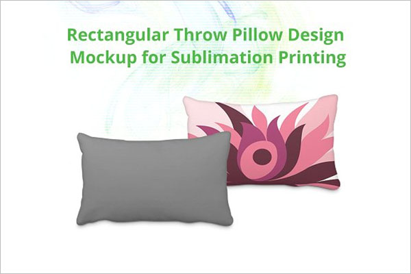 Throw Pillow Cover Mock-up Design