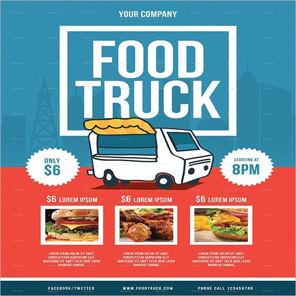 Top Food Truck Flyer Designs