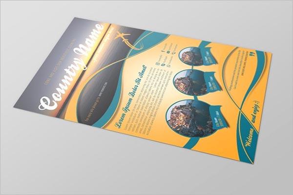 Tourism A4 Flyer Template