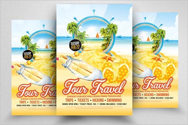 Tourism Vector Flyer Design