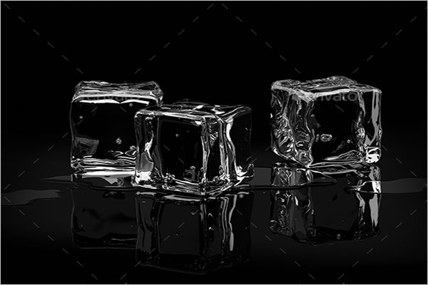 Transparent Ice Cube Background