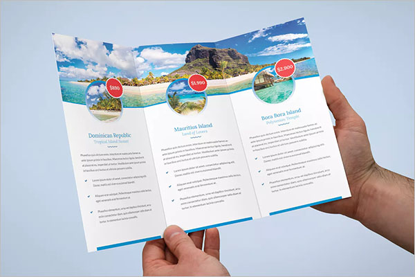 Travel Agency Tri-Fold Brochure Design