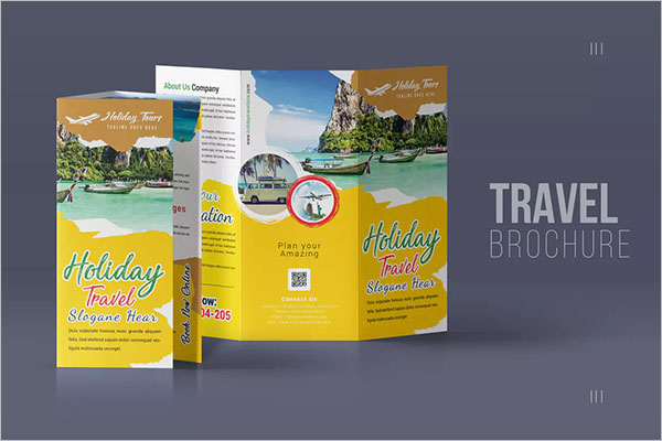 Travel Trifold Brochure Design
