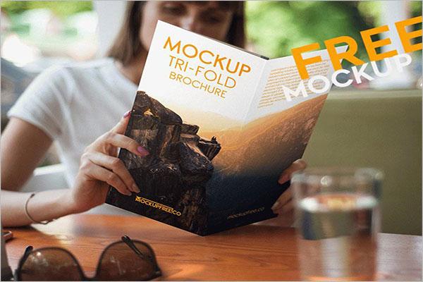 Tri-Fold Mock-up Brochure Template