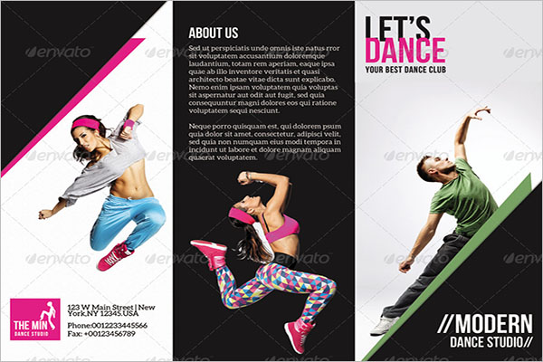 Trifold Brochure Dance Studio