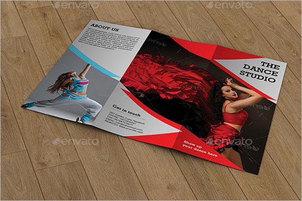 Trifold Brochure for Dance Studio