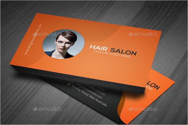 Unique Hair Stylist Business Card Template