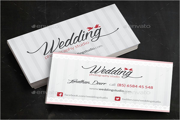 Universal Wedding Business Card Template