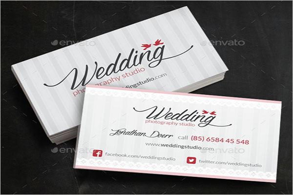 Universal Wedding Business Card Template
