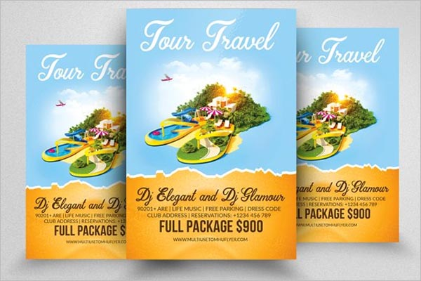 Vacation Tourism Flyer Template