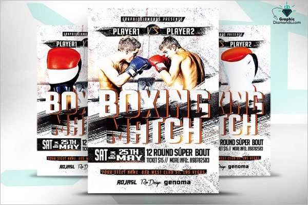 Vector Boxing Flyer Desgin Template