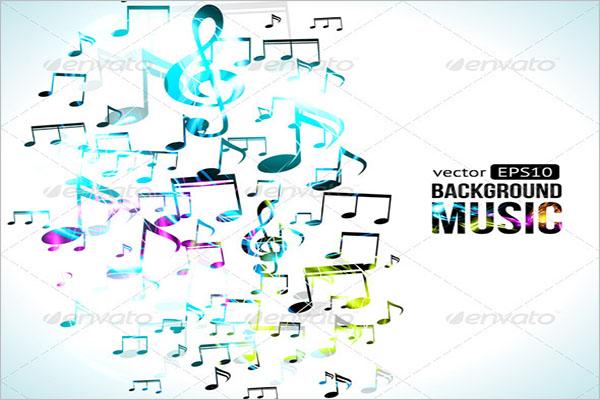 Vector Music Background Design