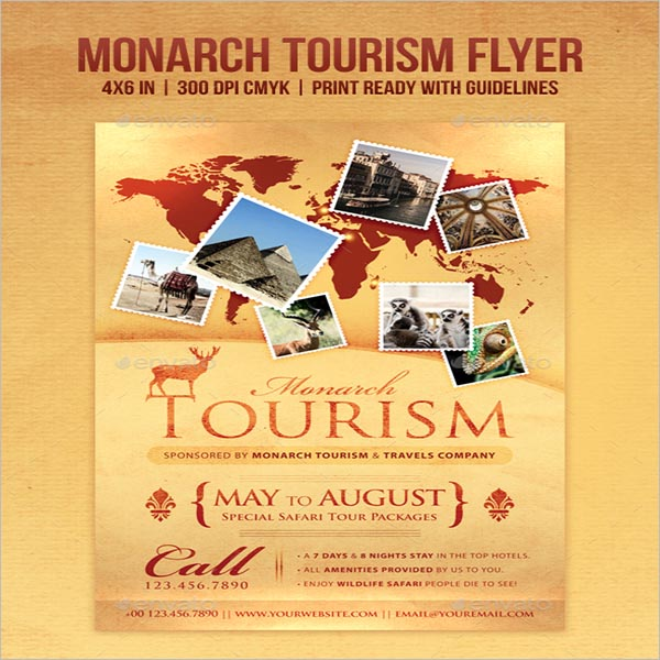 Vector Tourism Flyer