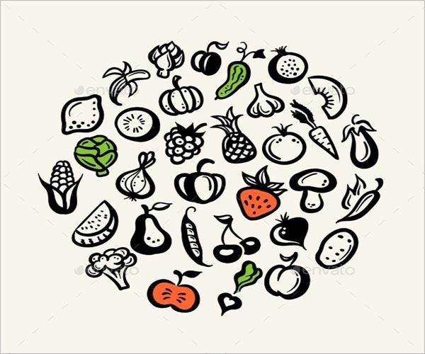 Vegetable Icon Broccoli