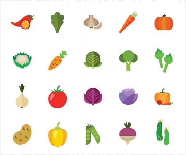 Vegetable Icon Design Ideas