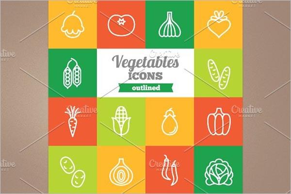 Vegetable Icon Pack Design