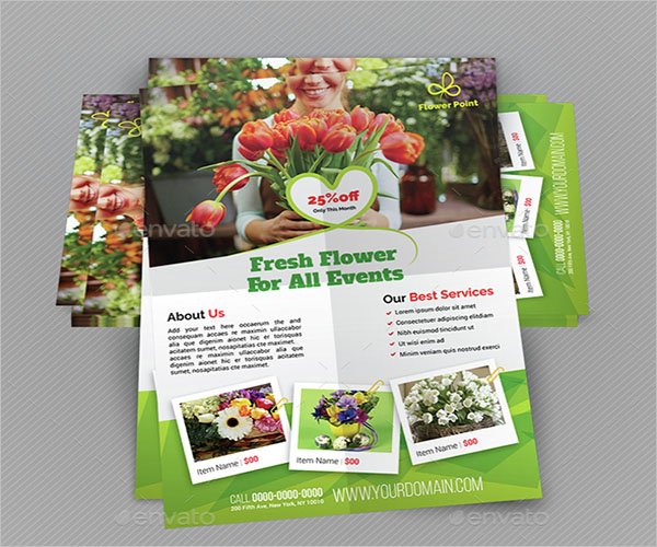 Vintage Flower Shop Flyer Template