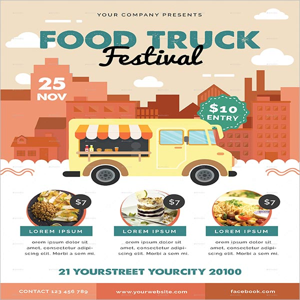 Vintage Food Flyer Truck Design