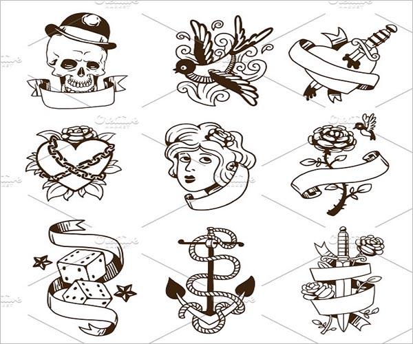 Vintage Tattoo Design Template