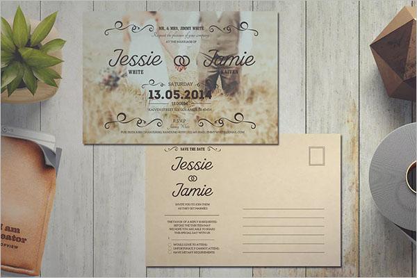 Vintage Wedding Invitation Background