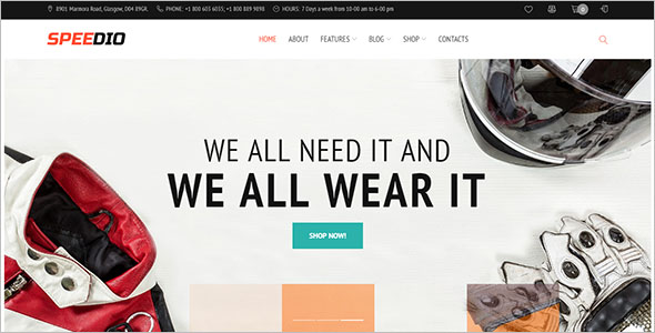 Vintage woocommerce auto parts Theme