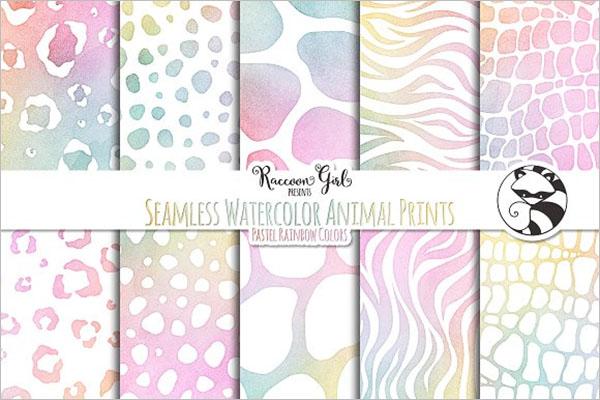Watercolor Animal Print Texture