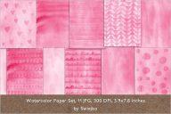 Watercolor Invitation Background Design