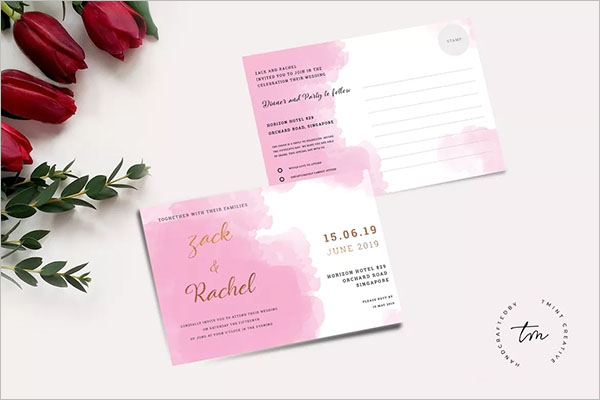 Wedding Business Card Design