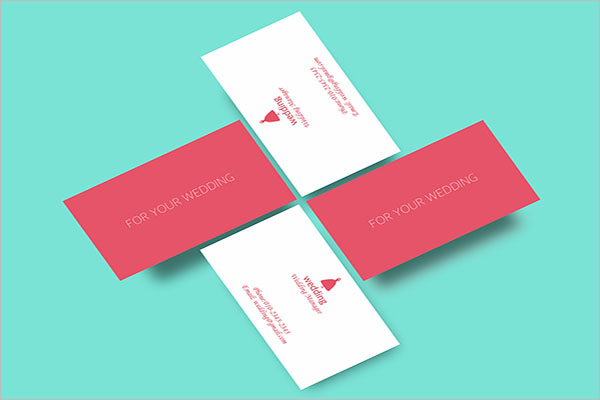 Wedding Business Card Example
