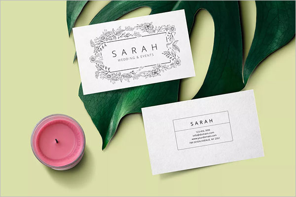 Wedding Event Business Card Template