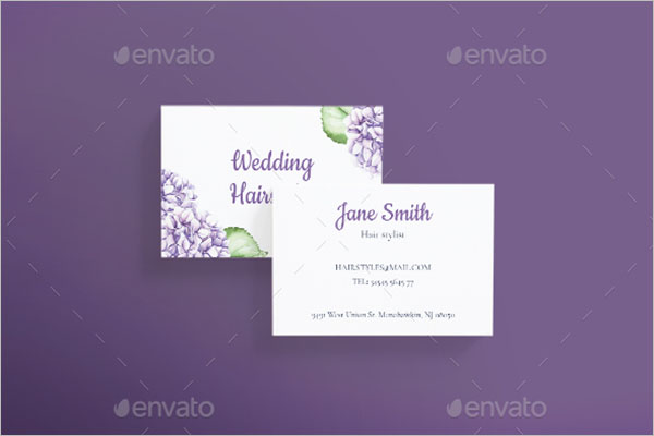 Wedding Hairstyles Business Card
