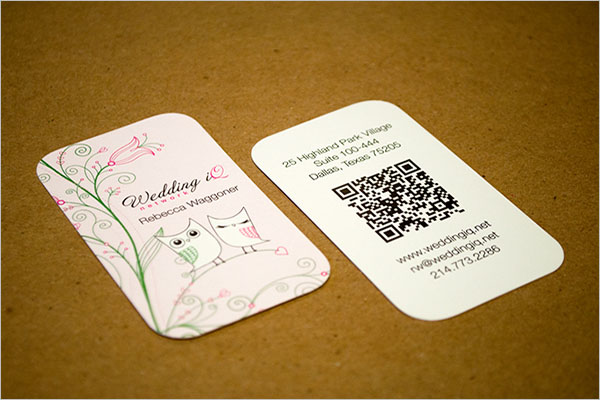 Wedding IQ Business Card Design