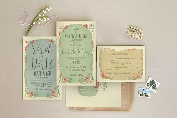 Wedding Invitation Background Illustration