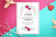 Wedding Invitation Backgroung Template