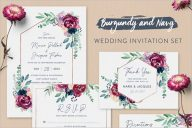 Wedding Invitation Set Background