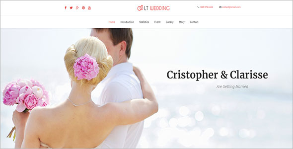 Wedding Onepage WordPress Theme