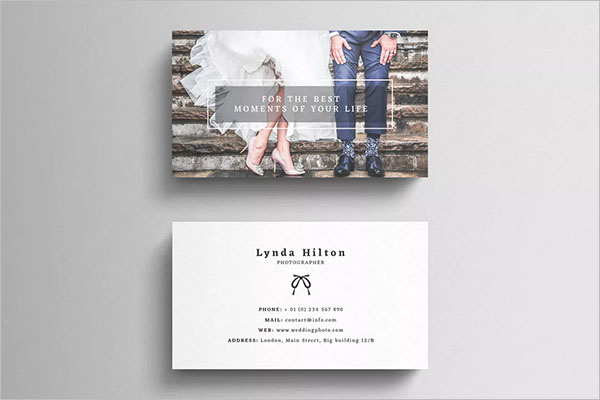 Wedding Photography Business Card Template