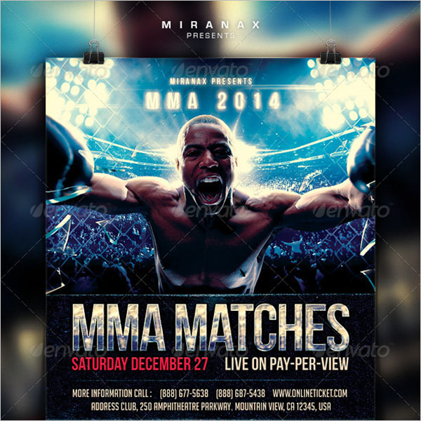 Weekend Boxing Flyer Designs