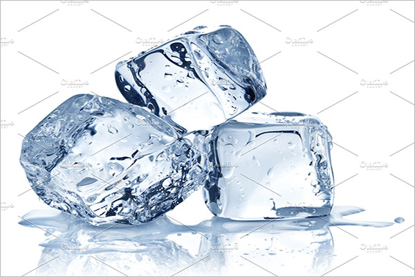 White Ice Cube Background Design