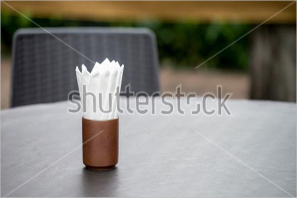 White Restaurant Tissue Paper Mockup