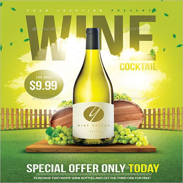 White Wine Cocktail Flyer